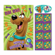 Scooby-Doo Party Game Boy Girl Birthday Pin the Tail Donkey Style 8 Players