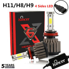 2x H11 H8 H9 1500W 192000LM 4 Sides LED Headlight Canbus Error Free Bulbs 6000K~