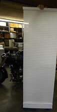 """SPRING WINDOW FASHIONS WHITE CLOTH SPRING LOADED BLINDS 22-3/4""""X57-1/2"""" **NNB**"""