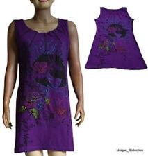 Sleeveless 100% Cotton Dresses for Women with Zipper
