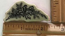 Birds winter snow branch ~ Stampin Up Christmas Lodge ~ Cling Rubber Stamp #5901