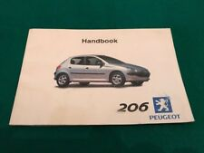 buy 206 car owner operator manuals ebay rh ebay co uk Peugeot 207 peugeot 206 gti service manual