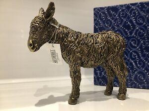 Shudehill Giftware Bronzed Donkey Standing Mule Gift Figurine Ornament Figure
