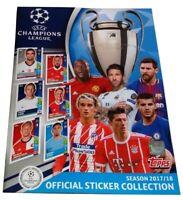 Champions League 2017-2018 Album Vuoto Topps
