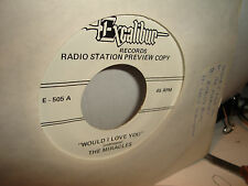 The Miracles Would I Love You / Eddie Clearwater Hillbilly Blues 45 RPM Vinyl