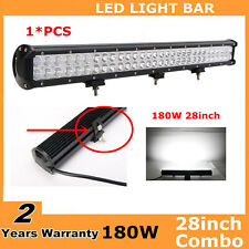 28Inch 180W Led Work Light Bar Flood Spot Offroad SUV Boat Driving Lamp 30/32""