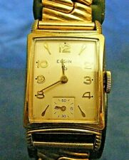 1950's Vintage 17j Elgin Tank Watch Gold Filled