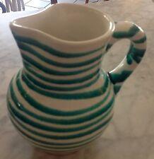Krug  alt, Gmundner Keramik grün geflammt