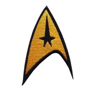 Star Trek Original Style Communicator badge Iron On Patch Sew on Embroidered New