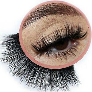 False Eyelashes Faux Mink Thick Fluffy Fake Lashes Wispy Glam 3D Falsies VEGAN