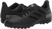 New Mens Size 10 Black Adidas Predator 19.4 TF Indoor Soccer Turf Shoes F35635