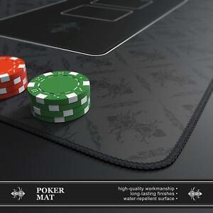Texas Poker Hold'Em Layout Table Top Mat Pad Cover Waterproof Casino Grey Felt