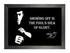 Bruce Lee Glory Hong Kong American Actor Film Martial Arts Quote Poster Photo