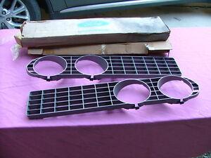 1971 Ford Torino Fairlane grilles, LH & RH, NOS! headlight bezels