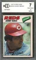 Johnny Bench 1977 O-Pee-Chee #100 Cincinnati Reds BGS BCCG 7