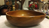Large vintage wood Dough Fruit Bowl Mid Century Thick and Heavy Great Piece