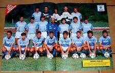 POSTER FOOTBALL  NAPOLI 88 / 89 - MARADONA - FRANCINI - CARNEVALE - CORRADINI