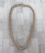 Sterling Silver Gold Plated Byzantine Link Chain Necklace ~ 33.4grams ~ 14-I4890