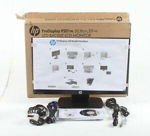 "HP ProDisplay P201m 20"" LED Backlit LCD Monitor New Open Box; TIG"