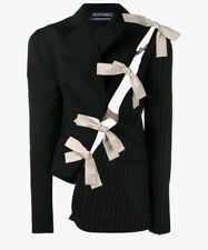 Jacquemus Bow Detail Deconstructed Jacket / Blazer SZ 34 NWOT. Blue, Tied, Strip