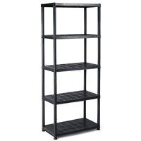 "5-Tier Storage Shelving Freestanding Heavy Duty Rack,33.5""L X 16""W X 73""H,Black"