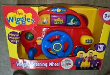The Wiggles Wiggly Steering Wheel Toy Brand New Nip Nib Lights Up Plays Music