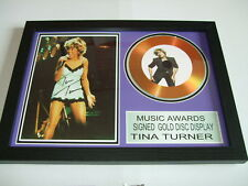 TINA TURNER  SIGNED  GOLD  DISC  Y