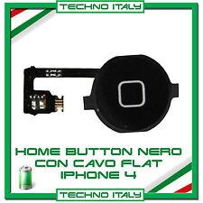 TASTO HOME PULSANTE CENTRALE CURSORE FLAT FLEX PER  IPHONE 4 4G NERO BLACK