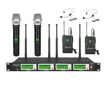 GTD Audio 4x800Ch UHF Diversity Wireless Handheld Lavalier Headset Microphone HL