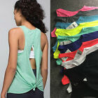 Women Tank Vest Fitness Gym Active Stretch Sports Dri-fit Workout Running Top