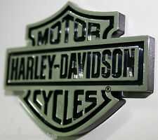 harley davidson bike hog hd domed raised 3d emblem tag chrome adhesive sticker