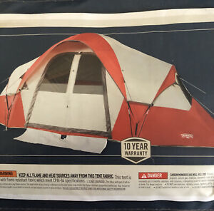 Wenzel Bristlecone 8 Person Modified Dome Tent New