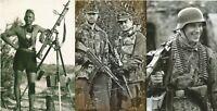 WW II German  Photo  **  Soldiers With Machine Guns    ** 3 Pack