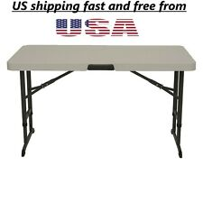Lifetime Products 4 ft. Commercial Adjustable Folding Table,strong table From US