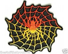"""(C59) SPIDER WEB 3"""" x 3"""" iron on patch (1346)"""