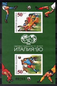6308 BULGARIA 1990 Football Championship S/S **MNH