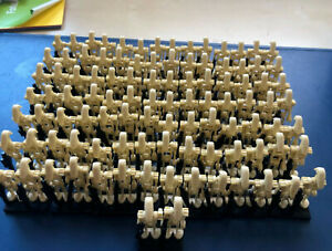 100 X BATTLE DROID ARMY STAR WARS CUSTOM MINI FIGURES ARMY NEW CLONE