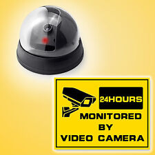 Fake  Dome Camera home/store/shop Security Flash Red LED Light Warning sticker