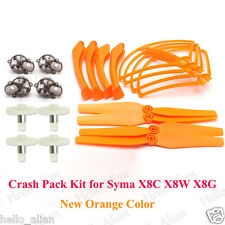 Orange Crash Pack Kit Set Spare Teile For Syma X8C X8W X8G RC Drone Quadcopter