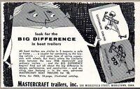 1958 Print Ad Mastercraft Customline & Cruiserline Boat Trailers Middletown,CT