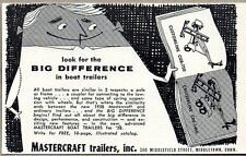 1958 Print Ad Mastercraft Customline & Cruiserline Boat Trailers Middletown,CT