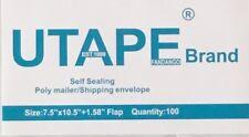 UTAPE® 200 WHITE POLY MAILERS ENVELOPES SELF SEALING SHIPPING BAGS 7.5 x 10.5