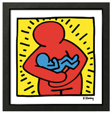 Keith Haring MOTHER and BABY 12x12 Framed Pop Art Giclee Print **SALE