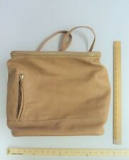Women's EMPERIA CAMEL Tan Brown Tote Purse Hand Bag BACK PACK Style  VEGAN