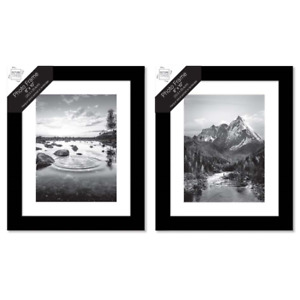 "[Set of 4] Black Photo Frame 8""x10"" (20.3x25.4 cm) Wooden Wall Hang Portrait"