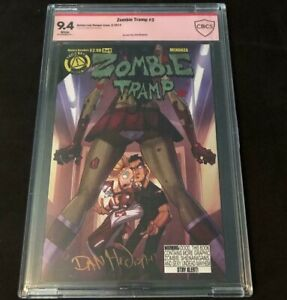 2014 Action Lab Danger Zone ZOMBIE TRAMP #3 CBCS 9.4 SIGNED BY DAN MENDOZA