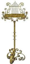 Vintage Ornate Music Stand Iron Adjustable Lyre Candle Holders - Elvis Presley