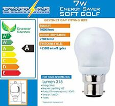 10 x 7w = 30w Watt BC POWERSAVE ENERGY SAVING LIGHT BULBS BAYONET CAP FITTING