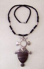 es - Collier CROIX du SUD et Perles MAROC Artisanat Ethnique contemporain