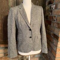 J.Crew Schoolboy Blazer in Gray Donegal Tweed Wool Silk Size 4